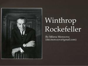 Son of Bill Clinton Winthrop Rockefeller
