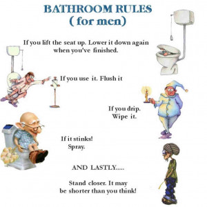 Bathroom Rules For Men