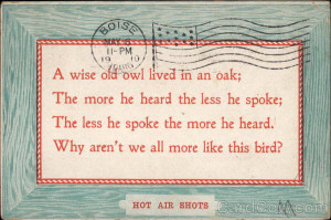 Wise Old Owl Saying