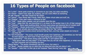 The 16 Types of People on Facebook