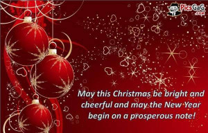 Christmas card with christmas quotes to say merry christmas with love ...