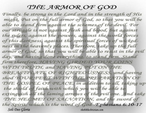 Quotes About Gods Love And Forgiveness: The Armor Of God Quote With ...