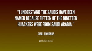 understand the Saudis have been named because fifteen of the ...