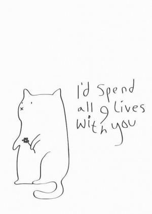 cat, draw, love, quotes
