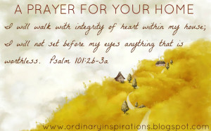 Prayer For Your Home