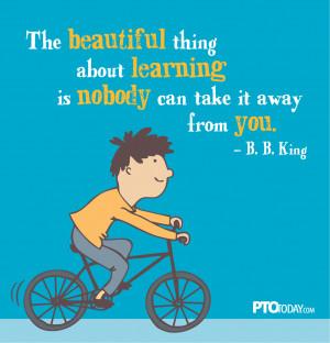Love this bit of wisdom from B.B.King
