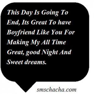 Romantic Boyfriend Sms Picture