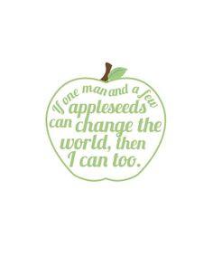 johnny appleseed quote artgreep apple fun art by Ibelieveinsugar, $5 ...