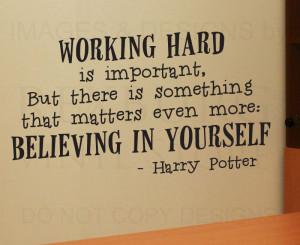 ... -Quote-Vinyl-Sticker-Art-Lettering-Graphic-Harry-Potter-Work-Hard-G08
