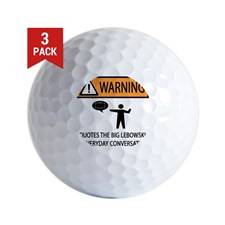 QUOTES BIG LEBOWSKI Golf Balls for