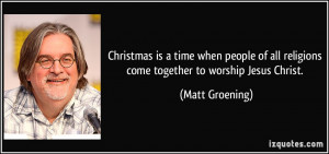 Christmas is a time when people of all religions come together to ...