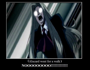 Alucard Hellsing Abridged Quotes Alucard went for a walk by