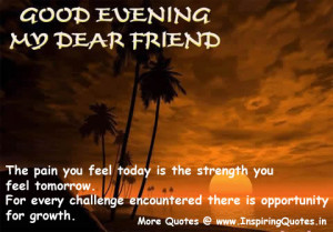 Good Evening Friends – Quotes and Sayings Images