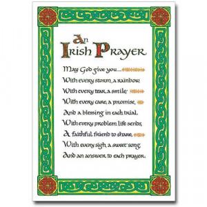irish prayer holy note card with envelope an irish prayer may god give ...