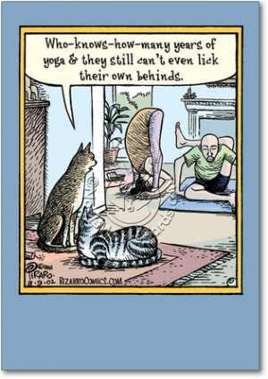 Yoga Lick Behinds Unique Humor Birthday Greeting Card Nobleworks
