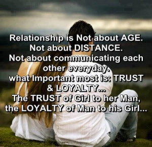 Relationship is not about age. Not about distance.