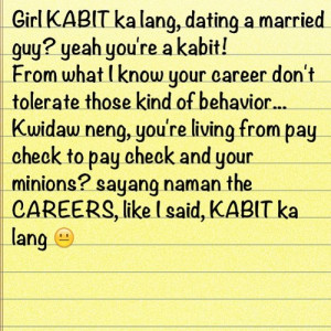 Gm Quotes Funny Tagalog ~ kabit quotes tagalog - Landi Quotes Tagalog