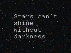 darkness, quotes, stars, text, think