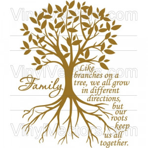 Like branches on a tree, we all grow in different directions… Family ...