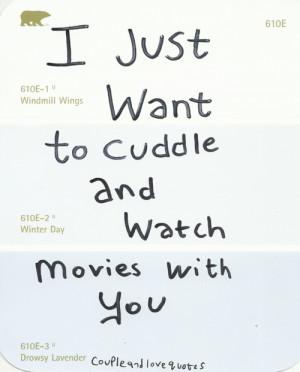 Cuddling . . . will save us.
