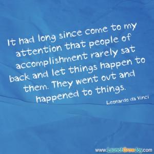 Great quote from Leonardo da Vinci