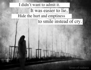 hiding behind a smile