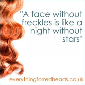 face without freckles redhead quote redhead-humour-and-quotes