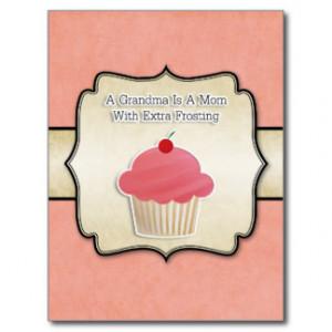 Grandma Cupcake Quote Post Card