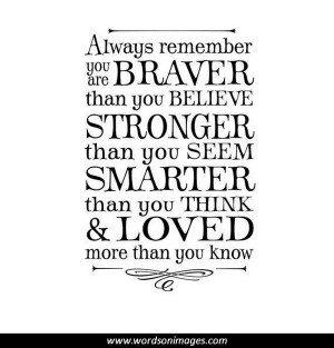 Inspirational Graduation Quote. Always remember you are braver than ...