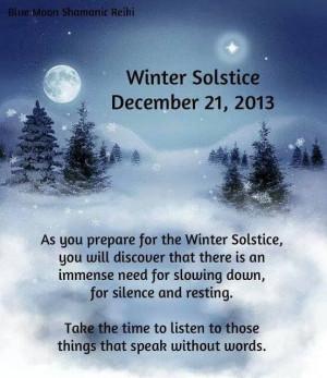 Winter Solstice today...