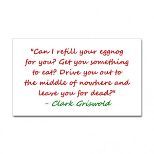 Refill Your Eggnog Quote Sticker (Rectangle)