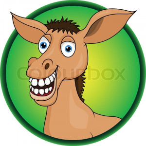 Stock vector of 'Funny horse cartoon'