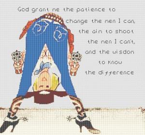 ... American > Humorous COWGIRL'S PRAYER Saying CROSS STITCH PATTERN