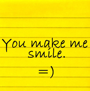 quotes you make me smile
