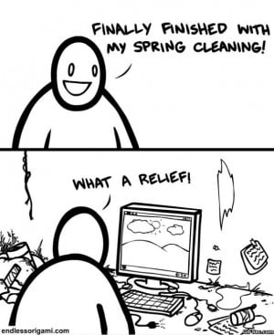 Spring Cleaning - Funny Pictures, MEME and Funny GIF from GIFSec.com
