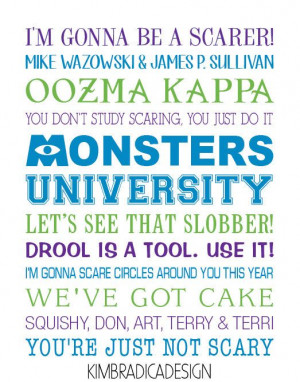 ... university #monsters university party #Monsters University quotes