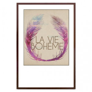 Bohemian Tribal Feather La Vie Boheme French The Bohemian Life Quote ...