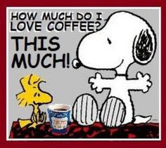 Much Do I Love Coffee quotes quote coffee morning snoopy funny quotes ...