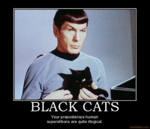 Spock loves black cats, too. It's only logical.