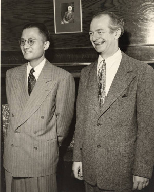 Choh Hao Li and Linus Pauling at the Gilbert Newton Lewis Medal ...