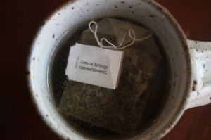 Add quotes to my homemade tea bags