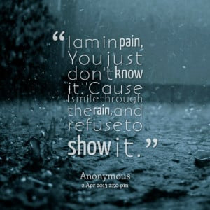 Winter is I AM in Pain Quotes over pain, feel love, romance will say