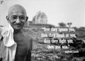 Famous introvert Mahatma Gandhi