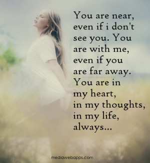 ... my heart, in my thoughts, in my life...always. Source: http://www