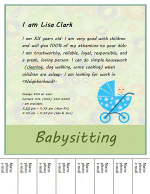 Simple-tear-off-babysitting-flyer