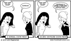 Choir nerd joke... Eric Whitacre♥