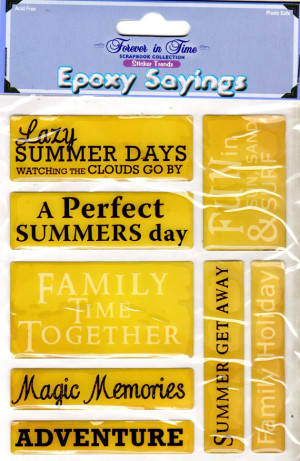 Summer Beach Lake Quotes Epoxy Stickers Forever In Time 6x8 Sheet ...