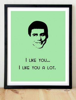 Movie Quote Poster, Dumb and Dumber, Jim Carey poster, Print