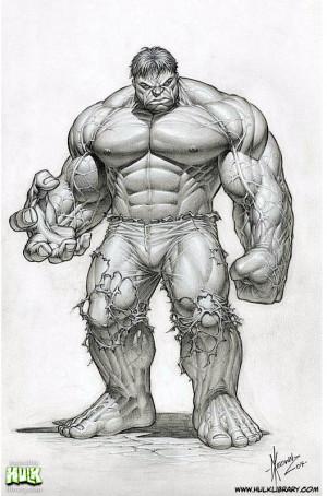 Hulk Pencil Drawings