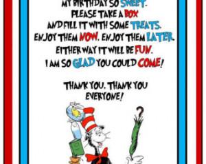 Dr Seuss Candy Buffet Sign